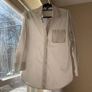 BCBG pinstriped blouse